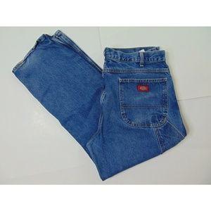 Dickies 38 X 30 Carpenter Blue Jeans Straight Leg